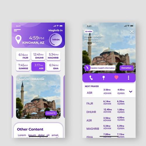 App design concept for MuslimPro