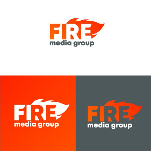 "Logo concept for ""Fire media group"""