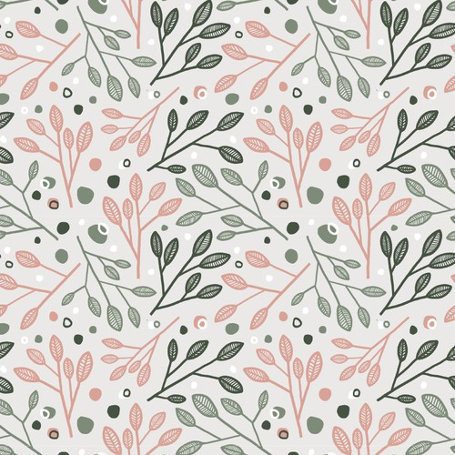 Botanical surface pattern concept
