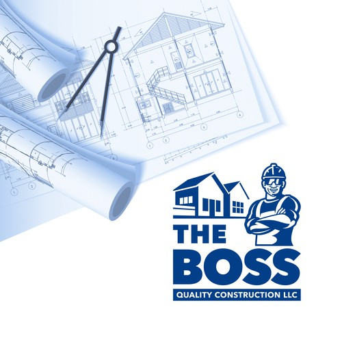 Bold logo for home construction services