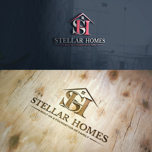 Stellar Homes Logo whichwill convey a new era in homebuilding