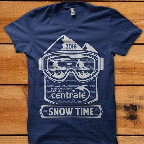ski and snowboard school t-shirt