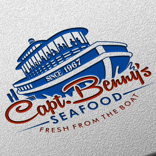 Create a t shirt new logo for Capt Benny's Seafood Restaurants