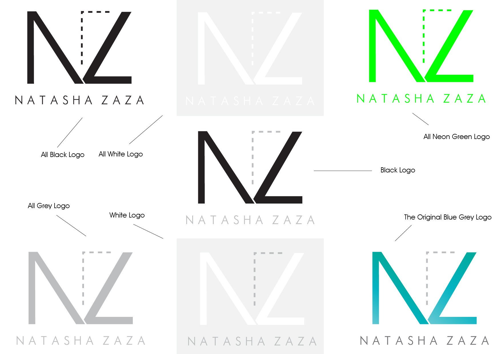 natasha zaza needs a new logo