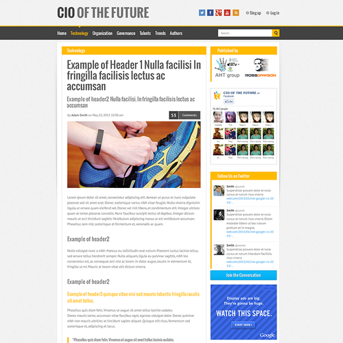 New website design wanted for CIO of the Future