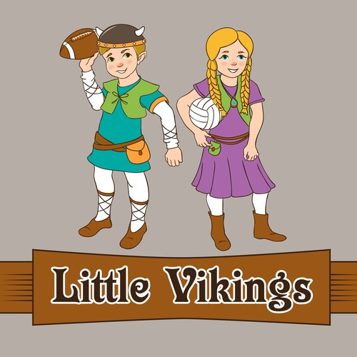 Cartoon Viking for Sporty Kids
