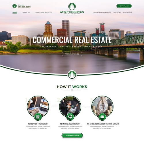 Commercial real estate brokerage & property management company