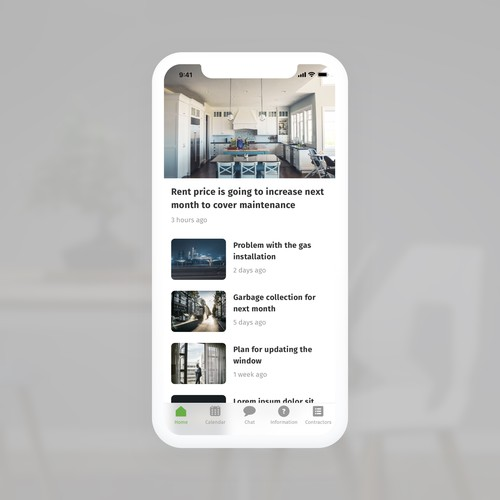 Mobile App Concept for Building Management