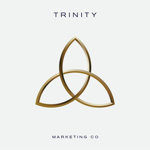 A unique illustration of a trinity symbol for an advertising agency