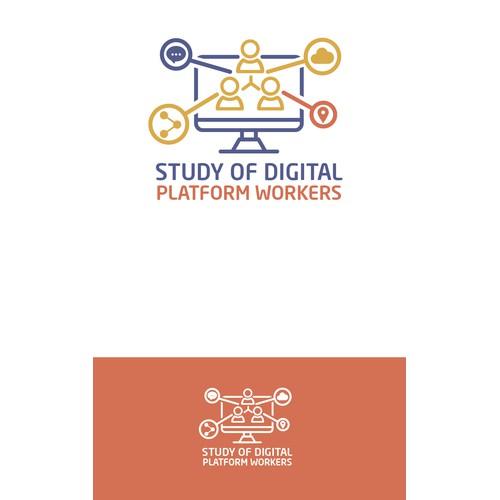 Winner logo competition of Study of Digital Platform Workers