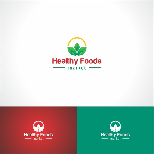logo and a simple concept, health, green for healthy food market