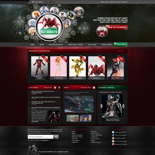 Kotobukiya needs a new website design
