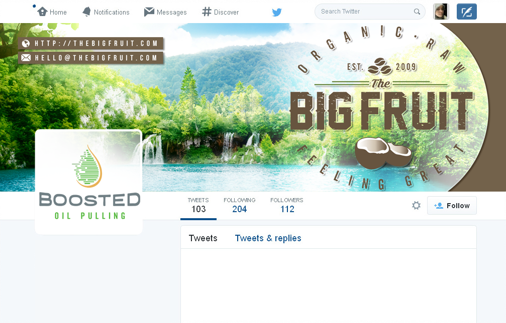 Innovative Twitter Banner for Organic Health Company