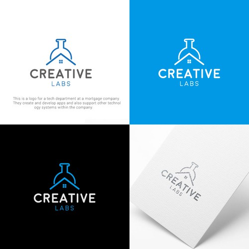 Real state logo concept for creative labs