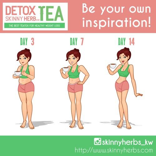 Detox Skinny Herb Illustration