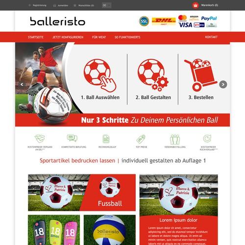 balleristo Home page redesign