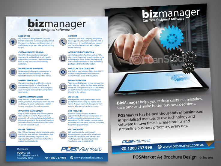 brochure design for POSMarket