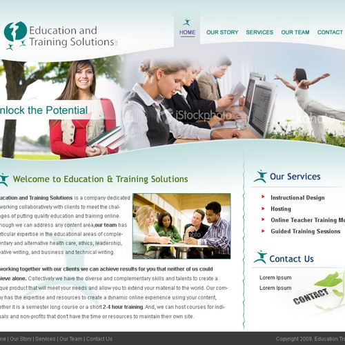 remote education web design - short contest - $251