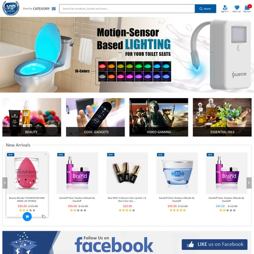 eCommerce website design for VIP Power Deals