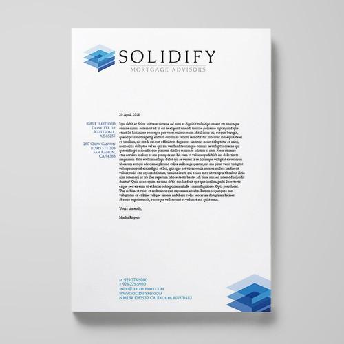 letterhead design for mortage advisors
