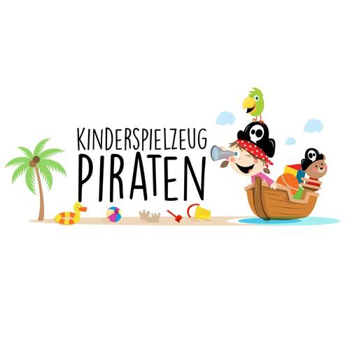 Fun logo for toys shop