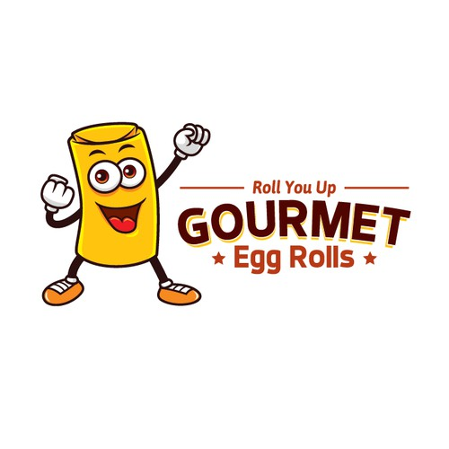 Mascot logo for Egg Roll restaurant