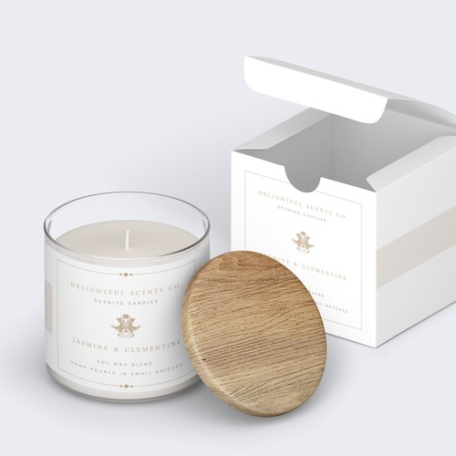 Luxury label and box for candle company