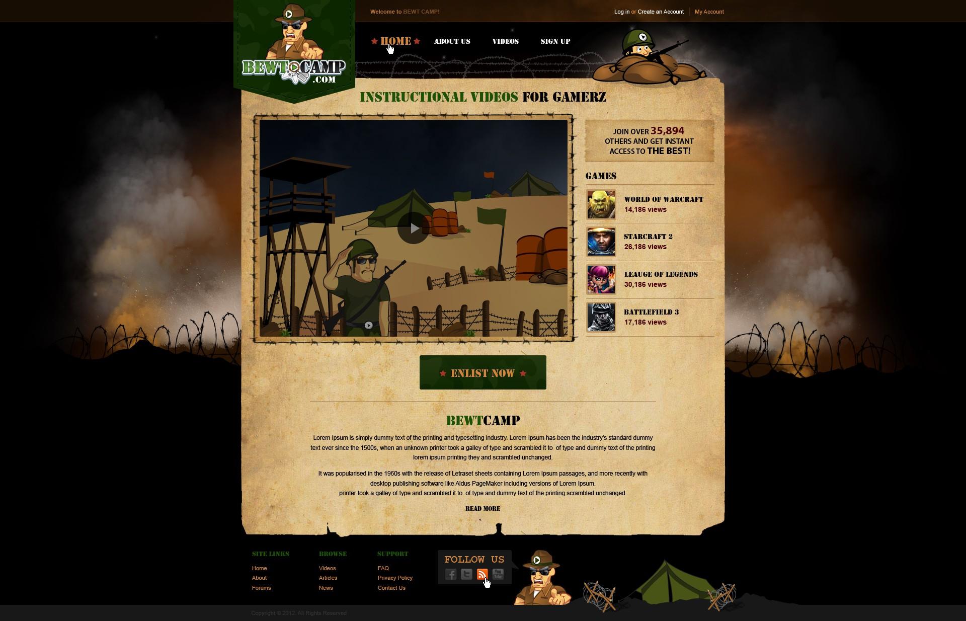 website design for Bewtcamp