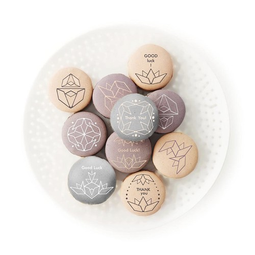 Design for prints on macarons.