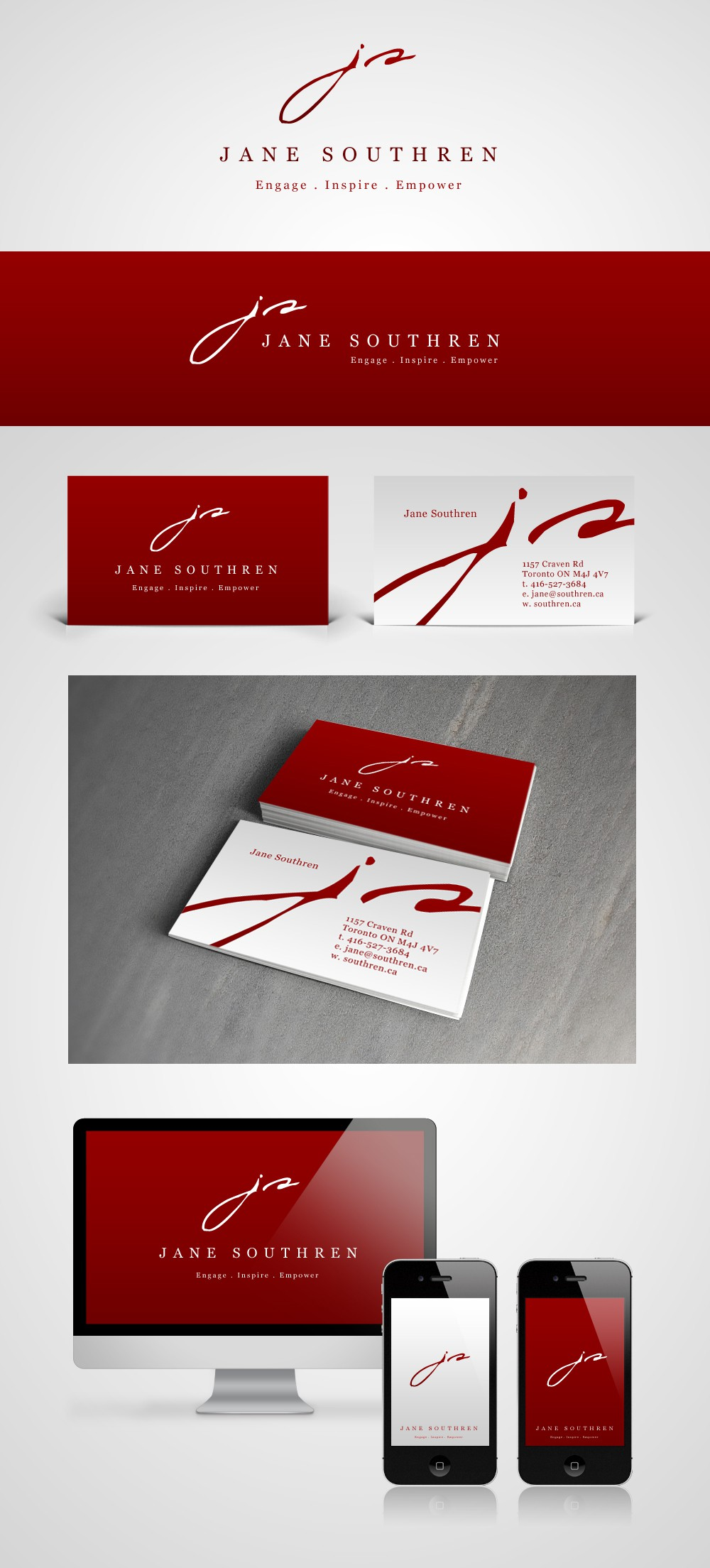 logo and business card for Jane Southren