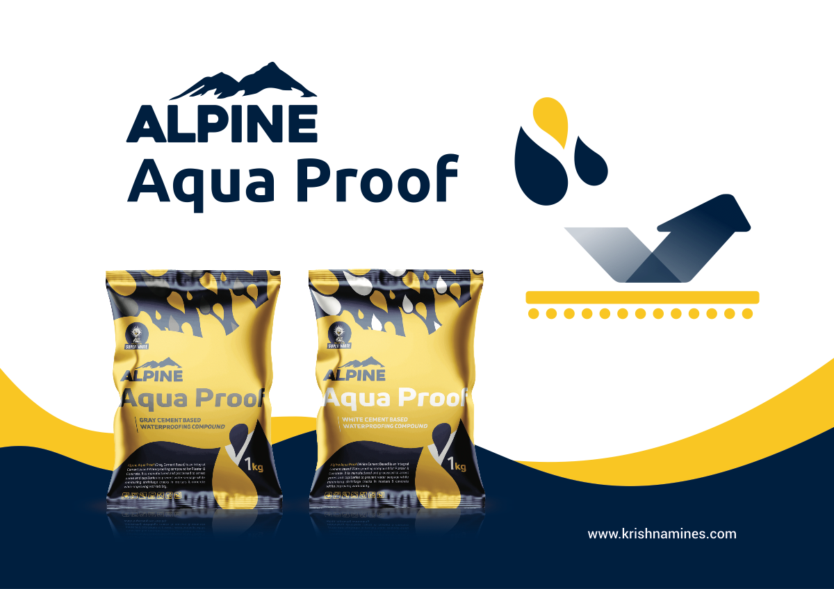 Create a Flyer for Aqua Proof Waterproofing Compound