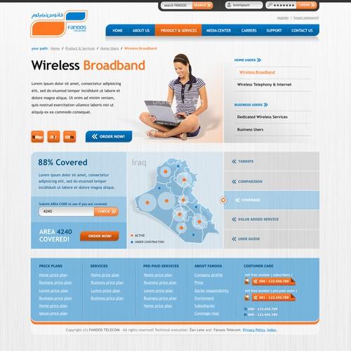 New beautiful website design needed for major telecom company
