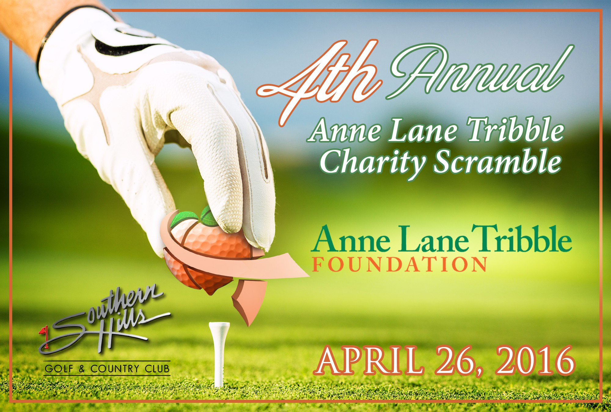 Create Golf Scorecard (Postcard) for 4th Annual Charity Tournament