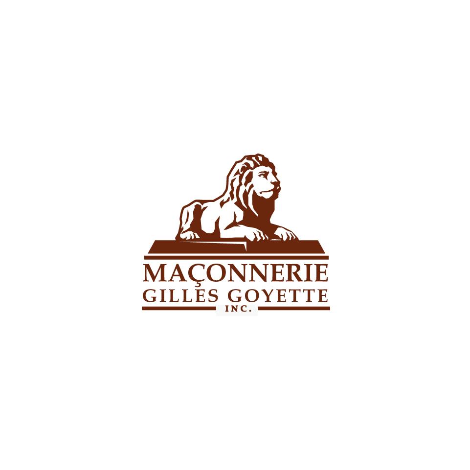 Masonry logo- stone lion