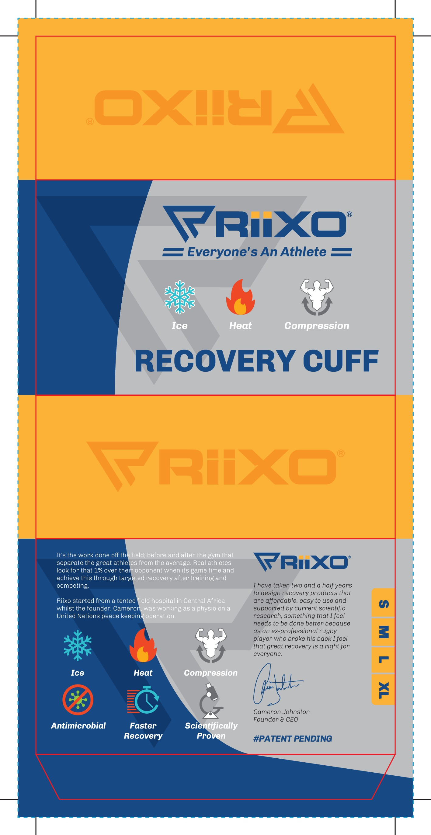 Bold new Packaging design for new sports recovery product launch