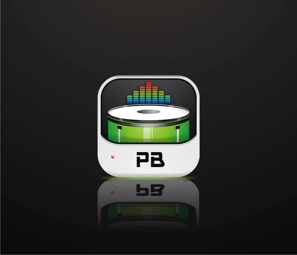 Icon for mobile drum machine app: Pocket Beats