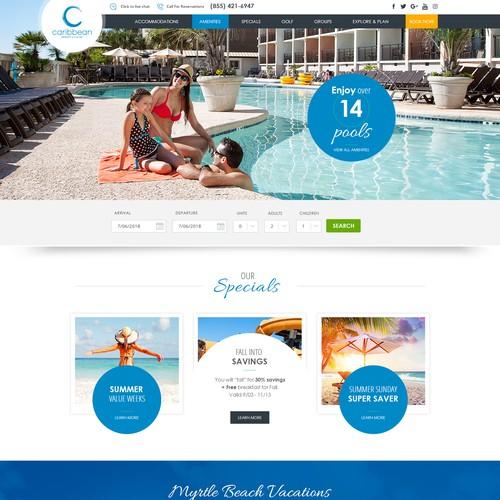 Caribbean Resort & Villas Word Press Website Design