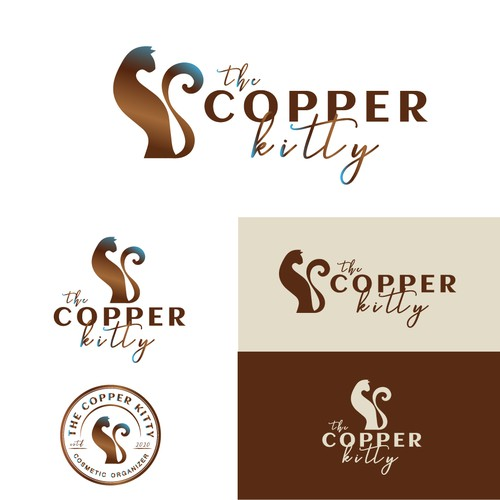 Exquisite logo design THE COPPER KITTY