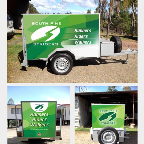 Design our running club's new eye catching trailer wrap