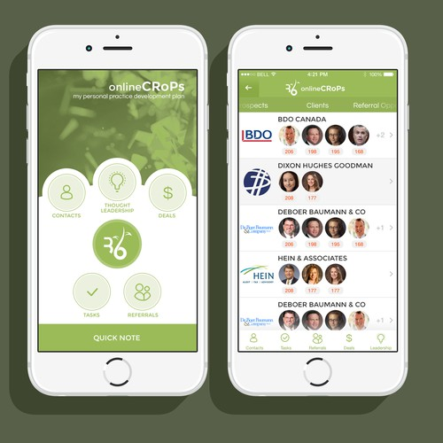 iOS8 - Design a Beautiful UX for a new CRM application
