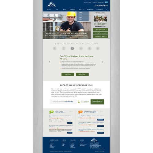 Create a new website for an HVAC industry association