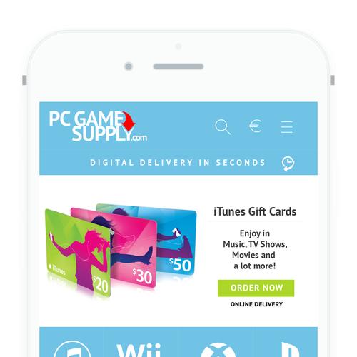 Gift Card Mobile Design