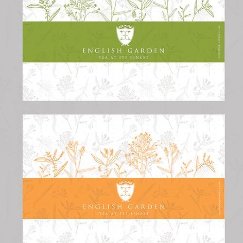 Tea paper cup - artwork design