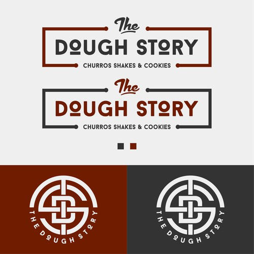 Design a modern chic yet vintage logo for 'The Dough Story'
