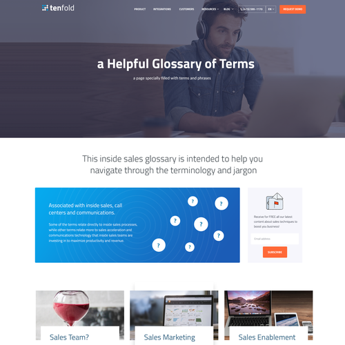 Tenfold Golssary Page