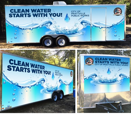 Bold Wrap for Water System Educational Trailer