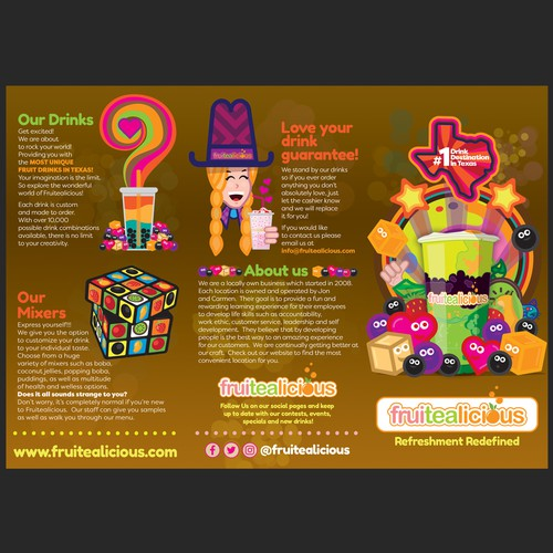 Fruitelicious menu