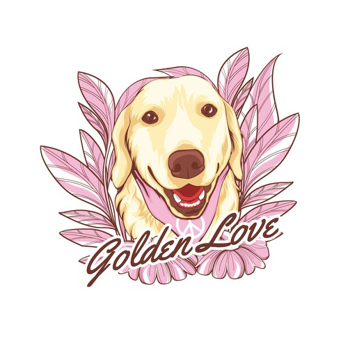 Golden Retriever Tshirt Design