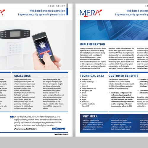 Case Study for MERA Switzerland AG