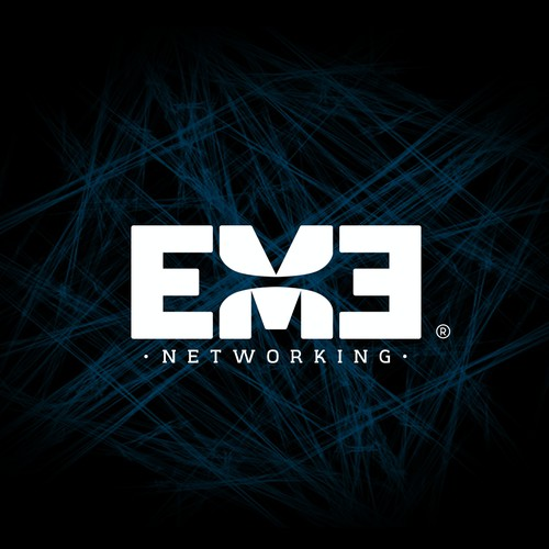 logo concept for EME networking data encryption